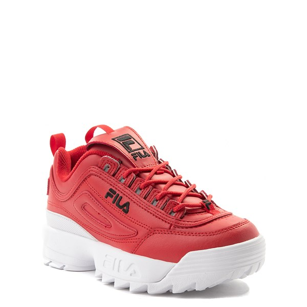 alternate view Fila Disruptor 2 Athletic Shoe - Big Kid - Red / WhiteALT1