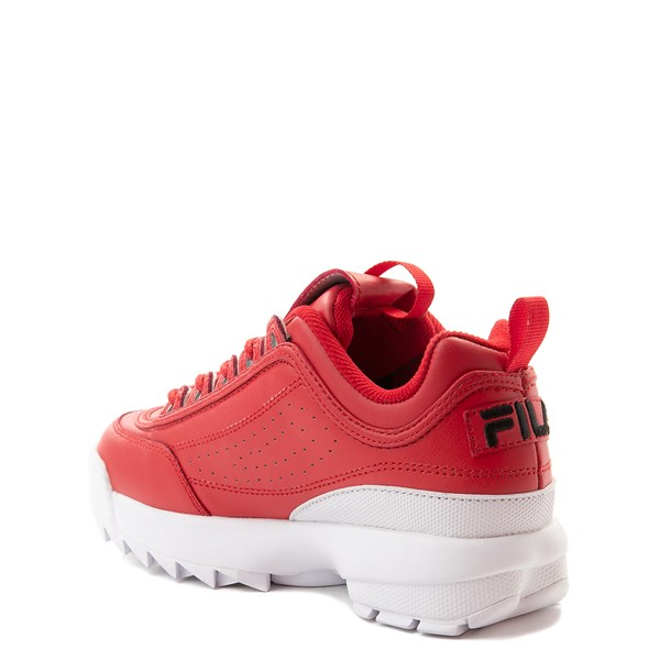 alternate view Fila Disruptor 2 Athletic Shoe - Big Kid - Red / WhiteALT2