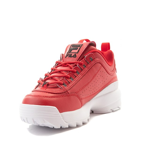 alternate view Fila Disruptor 2 Athletic Shoe - Big Kid - Red / WhiteALT3