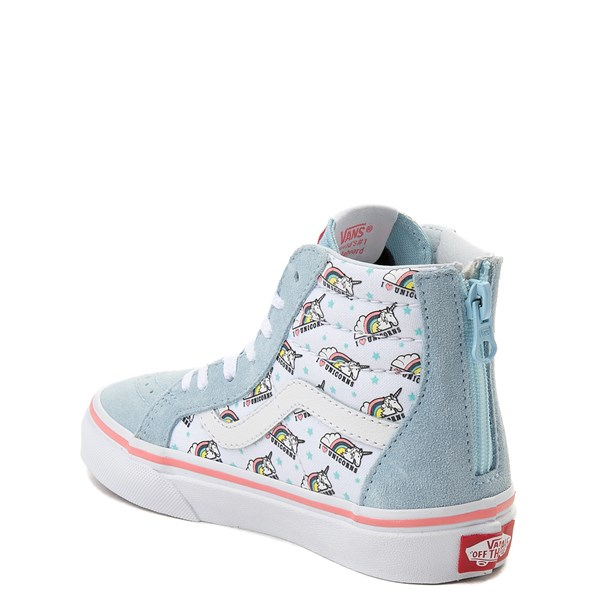 alternate view Vans Sk8 Hi Zip Unicorn Skate Shoe - Little Kid / Big KidALT2