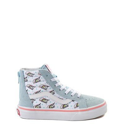 Youth/Tween Vans Sk8 Hi Zip Unicorn Skate Shoe