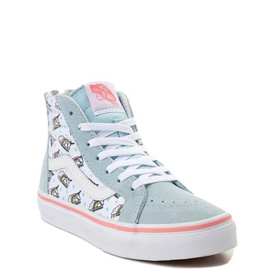 Alternate view of Youth/Tween Vans Sk8 Hi Zip Unicorn Skate Shoe