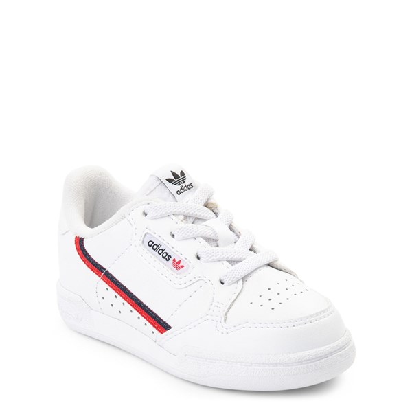 alternate view adidas Continental 80 Athletic Shoe - Baby / Toddler - White / Navy / RedALT1