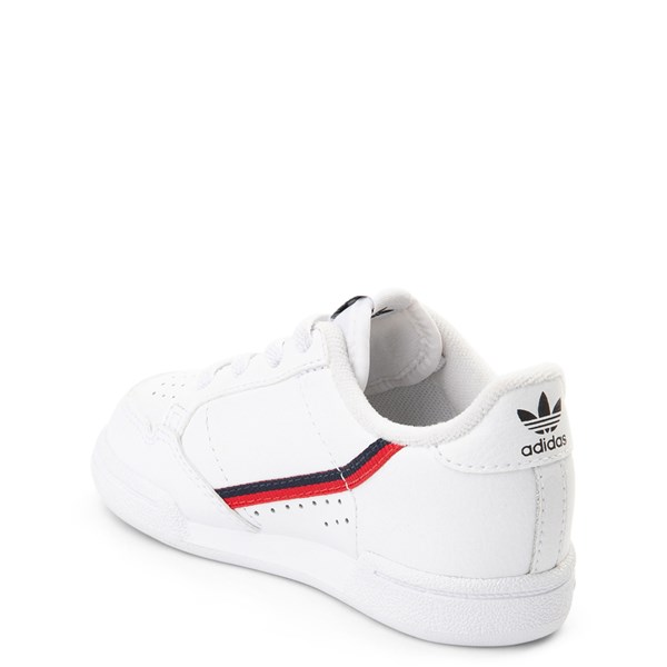alternate view adidas Continental 80 Athletic Shoe - Baby / Toddler - White / Navy / RedALT2