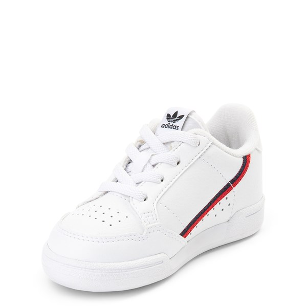 alternate view adidas Continental 80 Athletic Shoe - Baby / Toddler - White / Navy / RedALT3