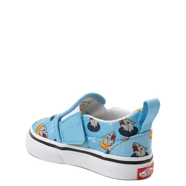 alternate view Vans Slip On V Floatie Sharks Skate Shoe - Baby / Toddler - Sailor BlueALT2