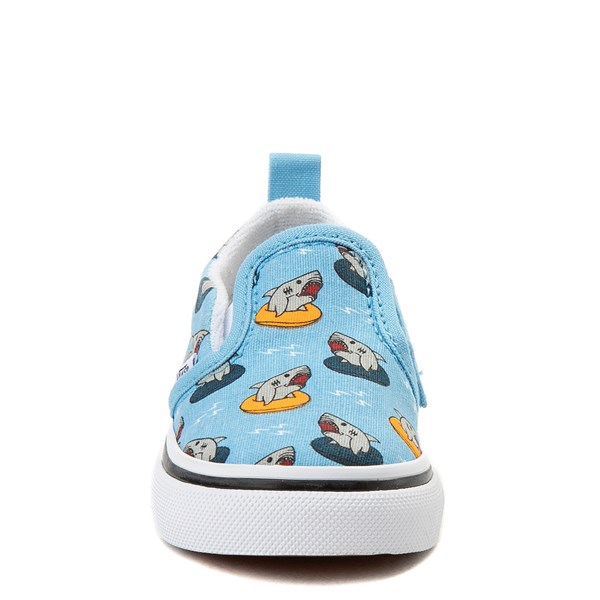 alternate view Vans Slip On V Floatie Sharks Skate Shoe - Baby / Toddler - Sailor BlueALT4