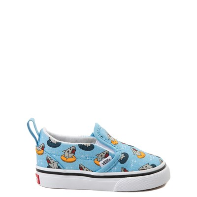 Main view of Vans Slip On V Floatie Sharks Skate Shoe - Baby / Toddler