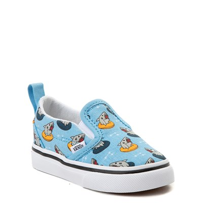 Alternate view of Vans Slip On V Floatie Sharks Skate Shoe - Baby / Toddler