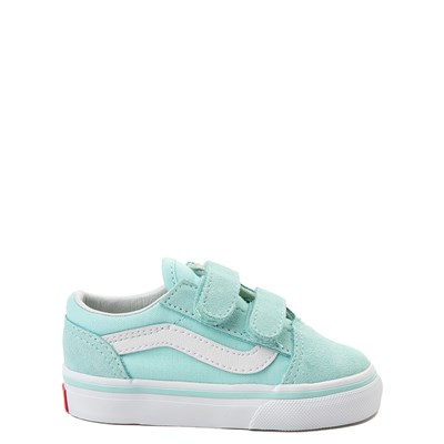 Main view of Vans Old Skool V Skate Shoe - Baby / Toddler - Aqua