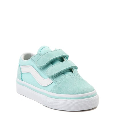 Alternate view of Vans Old Skool V Skate Shoe - Baby / Toddler - Aqua