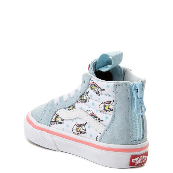 alternate view Vans Sk8 Hi Zip Unicorn Skate Shoe - Baby / ToddlerALT2