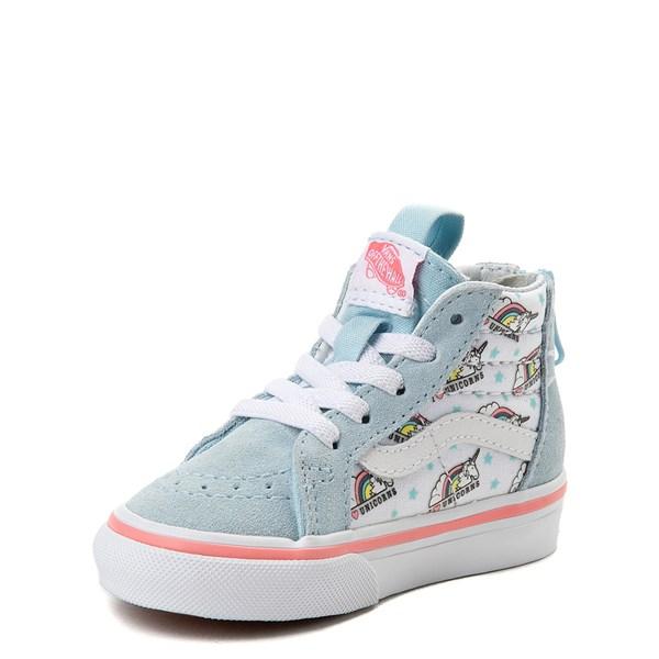 alternate view Vans Sk8 Hi Zip Unicorn Skate Shoe - Baby / ToddlerALT3