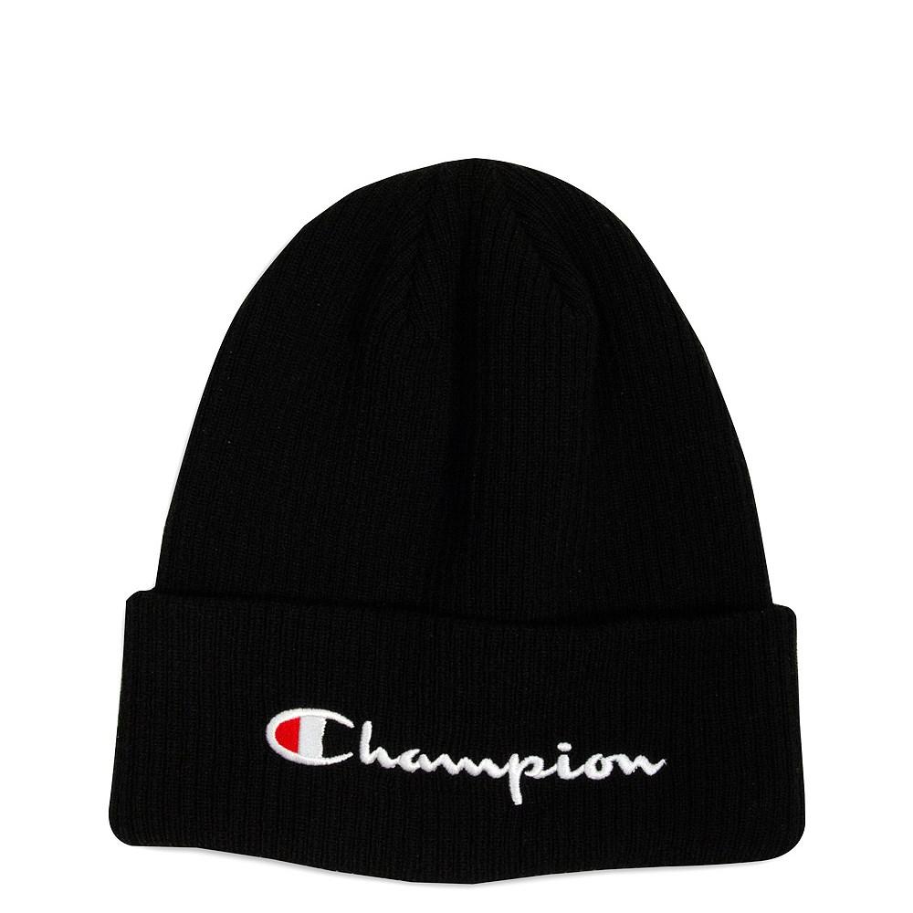 Champion Script Logo Beanie. default view 02a40375ed5