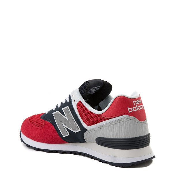 alternate view Mens New Balance 574 Athletic Shoe - Red / Navy / GrayALT2