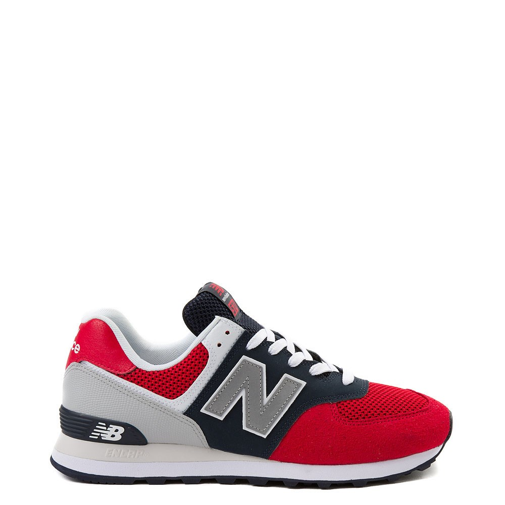 new balance 574 white/red
