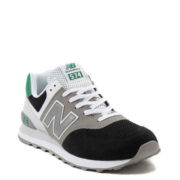 alternate view Mens New Balance 574 Athletic Shoe - Black / Gray / GreenALT1