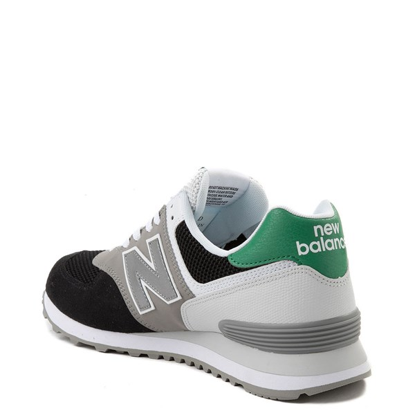 alternate view Mens New Balance 574 Athletic Shoe - Black / Gray / GreenALT2