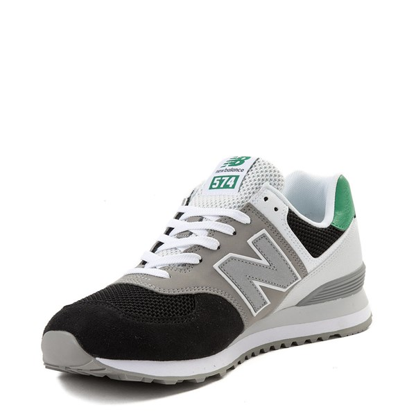 alternate view Mens New Balance 574 Athletic Shoe - Black / Gray / GreenALT3