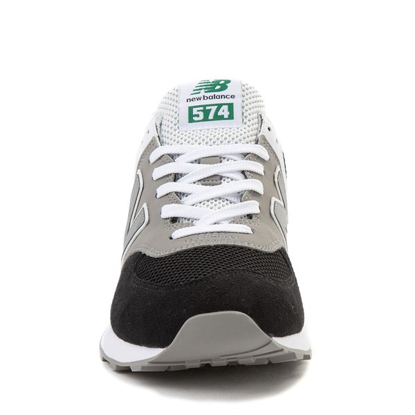 alternate view Mens New Balance 574 Athletic Shoe - Black / Gray / GreenALT4