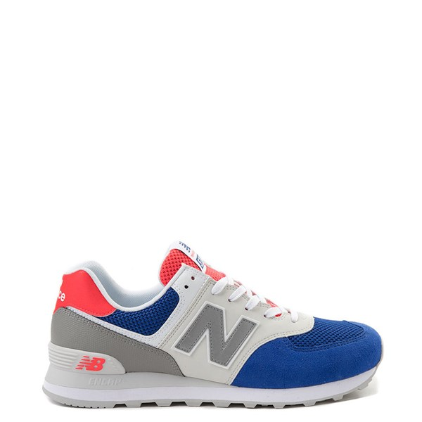 Mens New Balance 574 Athletic Shoe - Royal Blue / Gray / Red