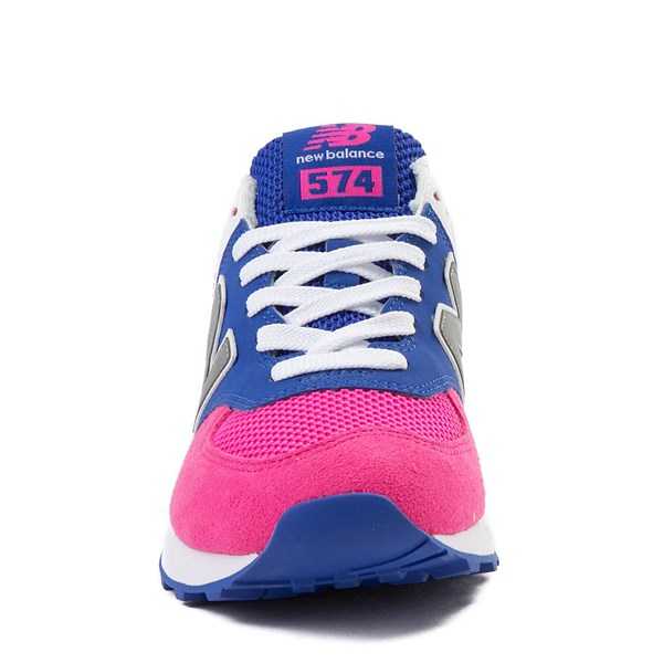 alternate view Womens New Balance 574 Athletic Shoe - Pink / Blue / SilverALT4