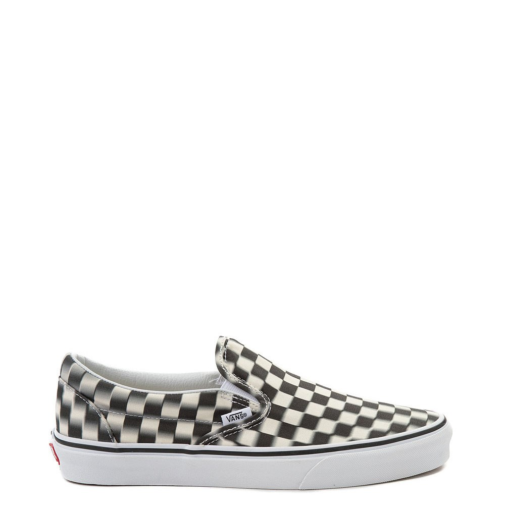 Vans Slip On Blur Chex Skate Shoe  f202d1994