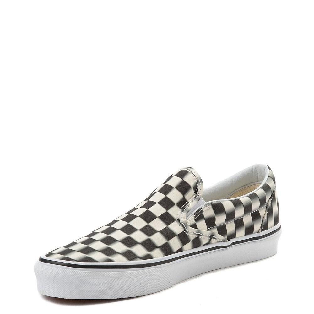 43fb3d26a909bc Vans Slip On Blur Chex Skate Shoe
