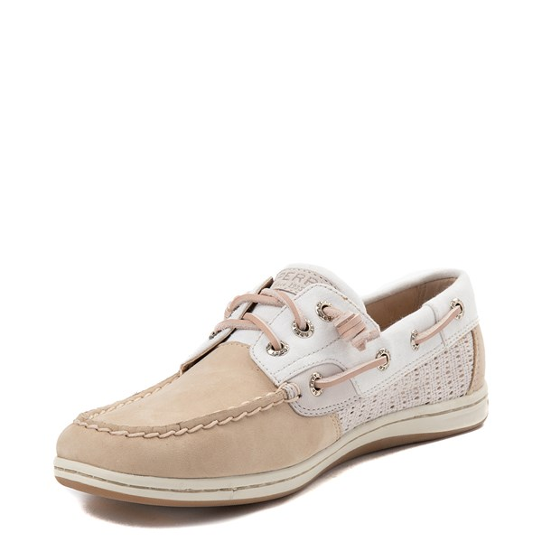 alternate view Womens Sperry Top-Sider Songfish Boat Shoe - Ivory / RoseALT3
