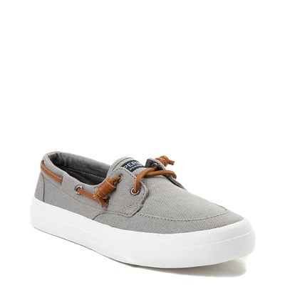 Alternate view of Womens Sperry Top-Sider Crest Boat Shoe - Gray