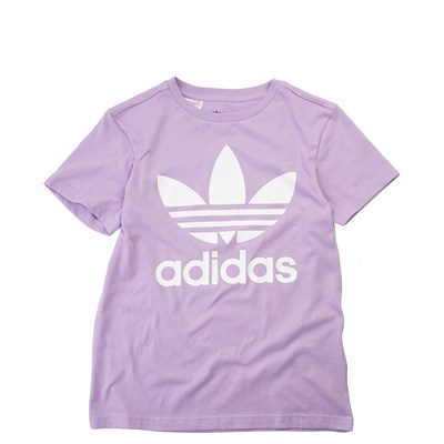 Main view of adidas Trefoil Logo Tee - Girls Little Kid