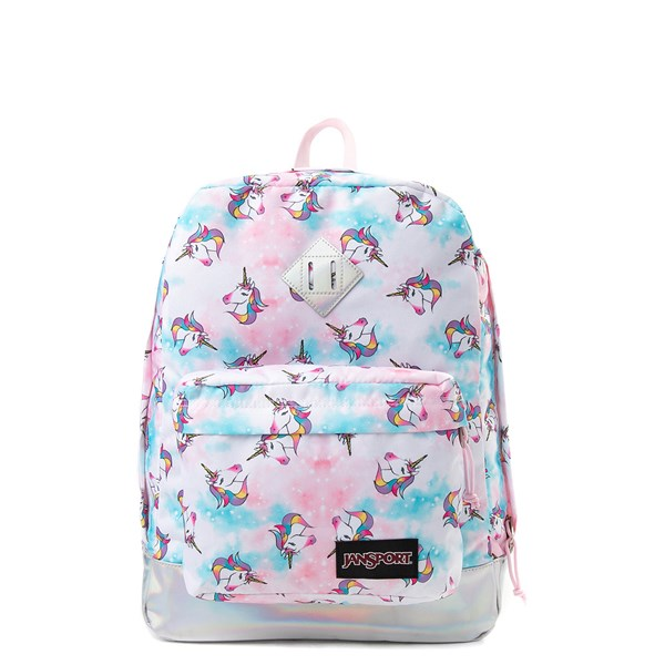 Main view of JanSport Super FX Unicorn Clouds Backpack - Multi