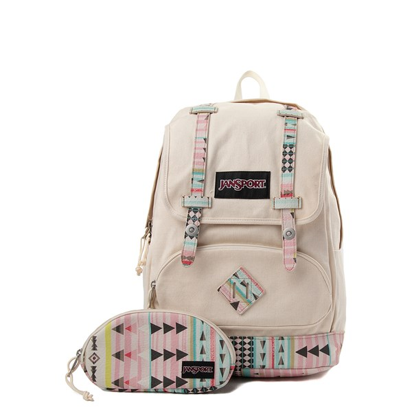 Main view of JanSport Baughman Playful Stripes Backpack - Cream / Multi