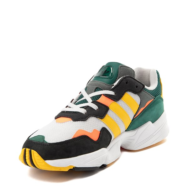 alternate view Mens adidas Yung 96 Athletic Shoe - Green / Gold / Solar RedALT3