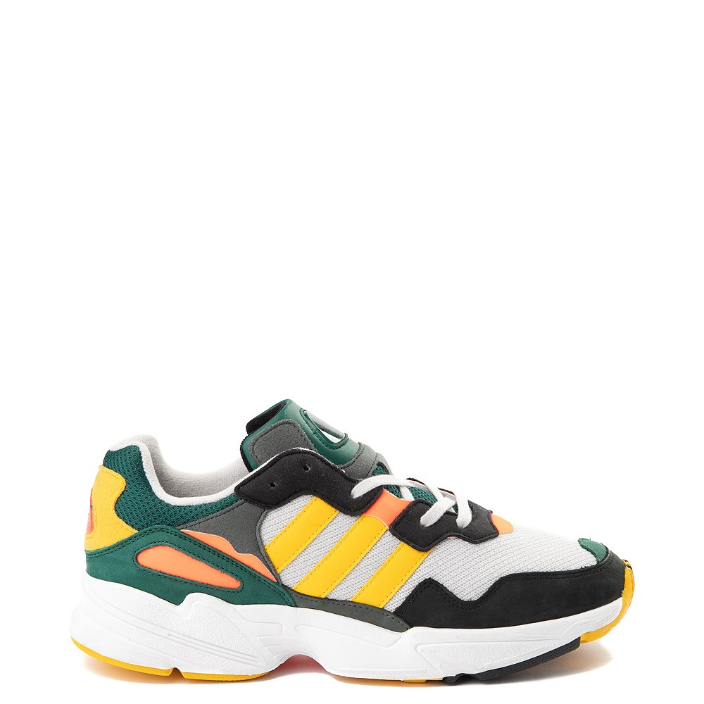 Mens adidas Yung 96 Athletic Shoe - Green / Gold / Solar Red