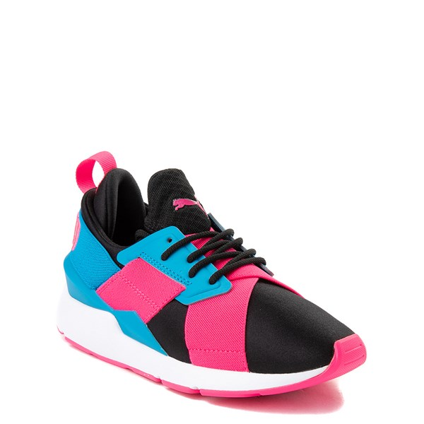 alternate view Puma Muse Satin Athletic Shoe - Big Kid - Pink / BlueALT1