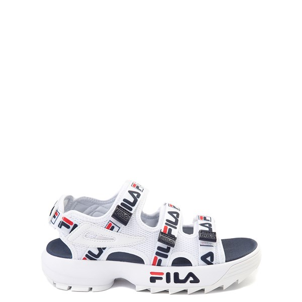 Fila Disruptor Sandal - Little Kid / Big Kid - White / Navy / Red