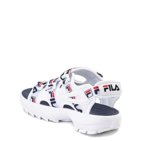 alternate view Fila Disruptor Sandal - Little Kid / Big Kid - White / Navy / RedALT2