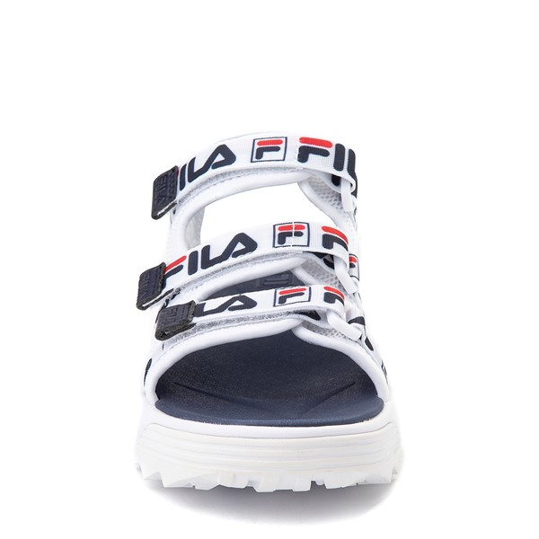 alternate view Fila Disruptor Sandal - Little Kid / Big Kid - White / Navy / RedALT4