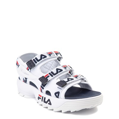 Alternate view of Fila Disruptor Sandal - Little Kid / Big Kid - White / Navy / Red