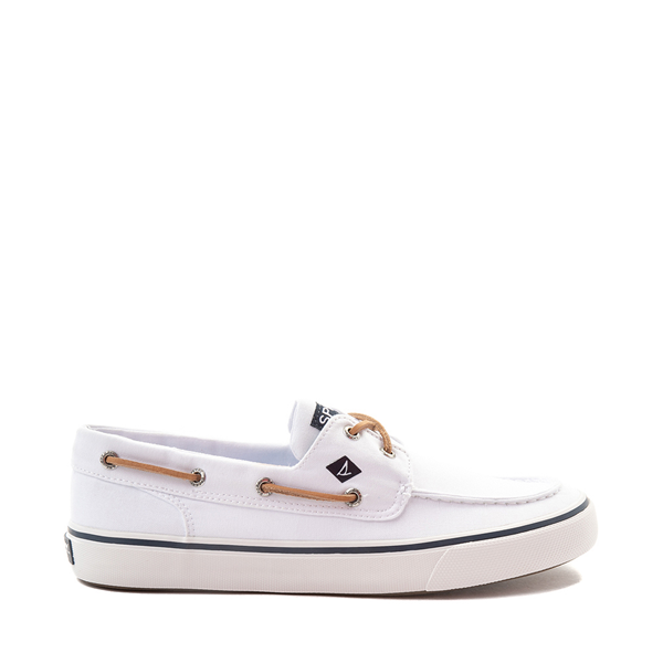 Main view of Mens Sperry Top-Sider Bahama II Boat Shoe - White