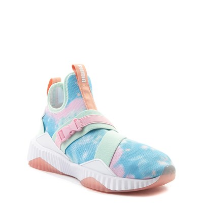 Alternate view of Puma Defy Mid Tie Dye Athletic Shoe - Big Kid