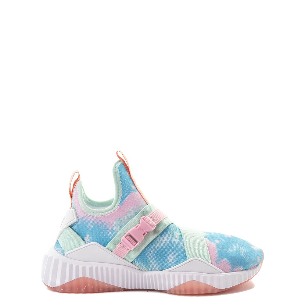 Tween Puma Defy Mid Tie Dye Athletic Shoe