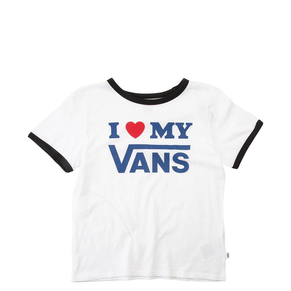 4218a3bd6ab96e Womens Vans I Heart My Vans Ringer Tee. drag to zoom