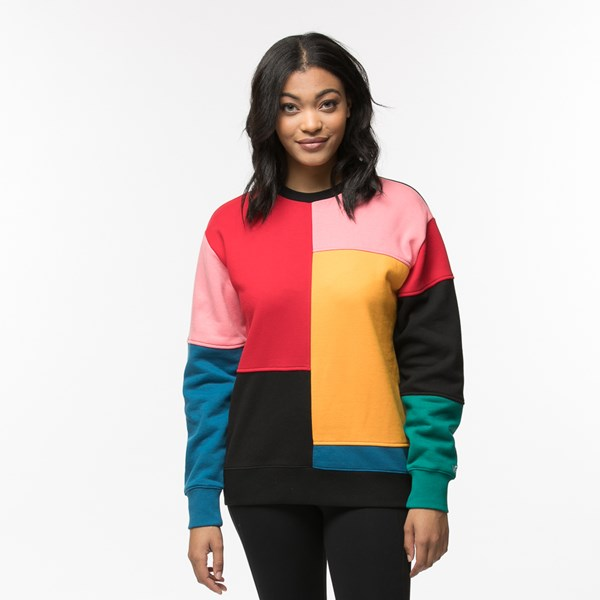 Womens Vans Patchy Crew Sweatshirt