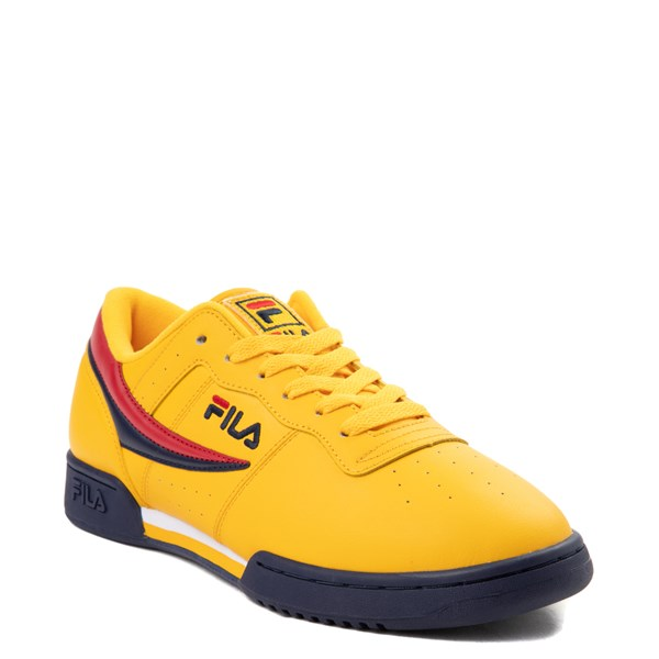 alternate view Womens Fila Original Fitness Athletic Shoe - Yellow / Navy / RedALT1