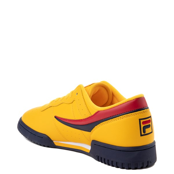 alternate view Womens Fila Original Fitness Athletic Shoe - Yellow / Navy / RedALT2