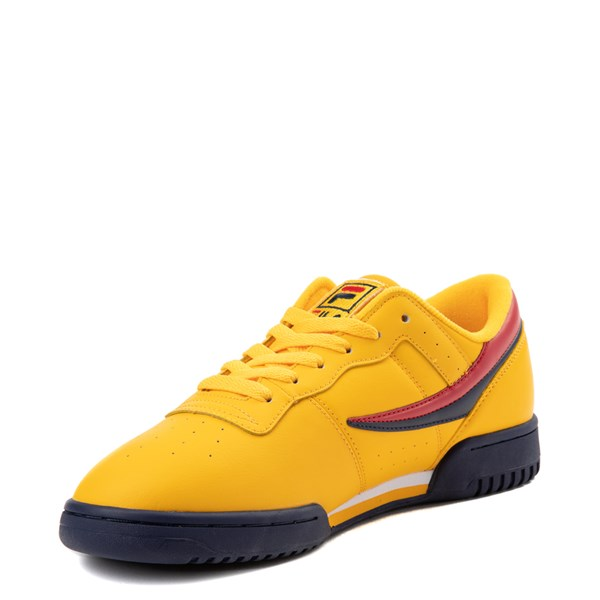 alternate view Womens Fila Original Fitness Athletic Shoe - Yellow / Navy / RedALT3