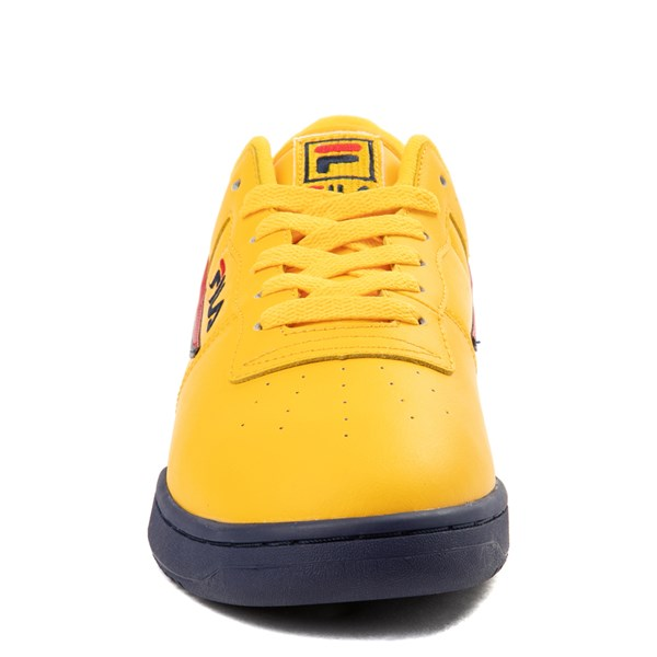 alternate view Womens Fila Original Fitness Athletic Shoe - Yellow / Navy / RedALT4
