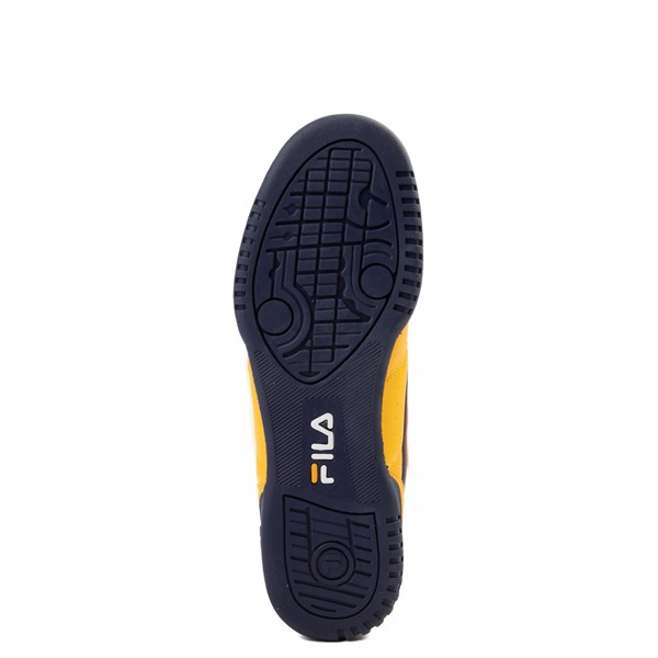 alternate view Womens Fila Original Fitness Athletic Shoe - Yellow / Navy / RedALT5